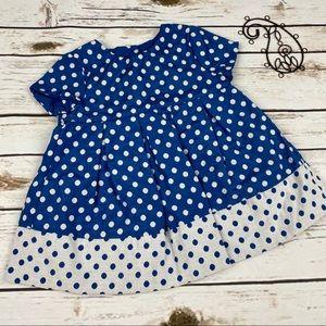 Gap Girls Dress 12-18 Months Blue Polka Dot Lined